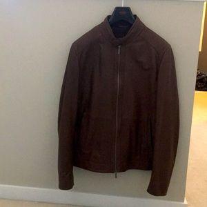 Hugo Boss men's 42R lambskin leather jacket